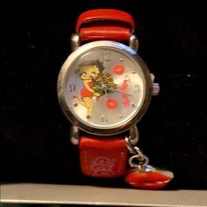 Rare Betty Boop kiss Charm Watch.